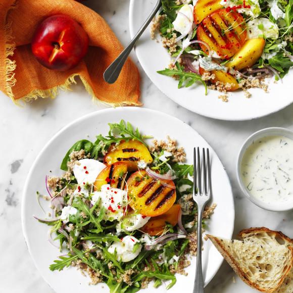 Grilled Yellow Nectarine Salad recipe