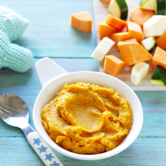 Sweet Potato and Roast Vegetable Puree