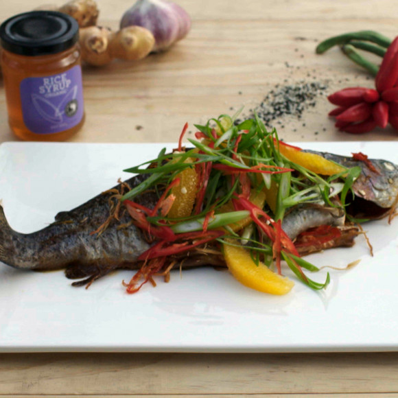 Baked Trout with an Orange and Chili Salad