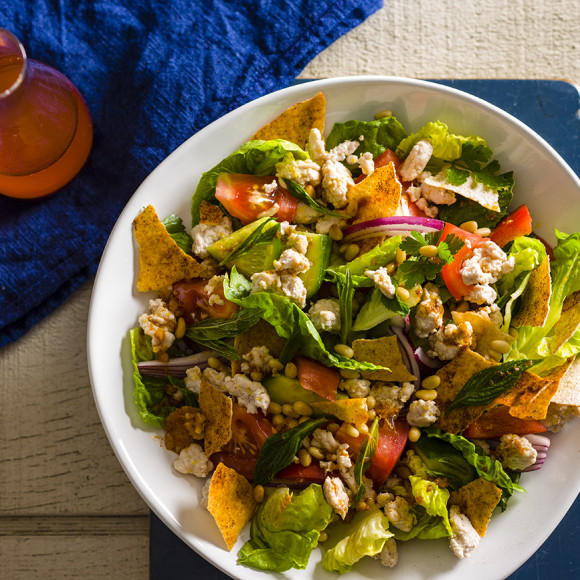 Turkey Fattoush Salad Recipe | myfoodbook | Turkey Mince ...