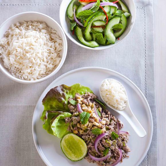 Turkey Larb with Fresh Asian Salad Recipe