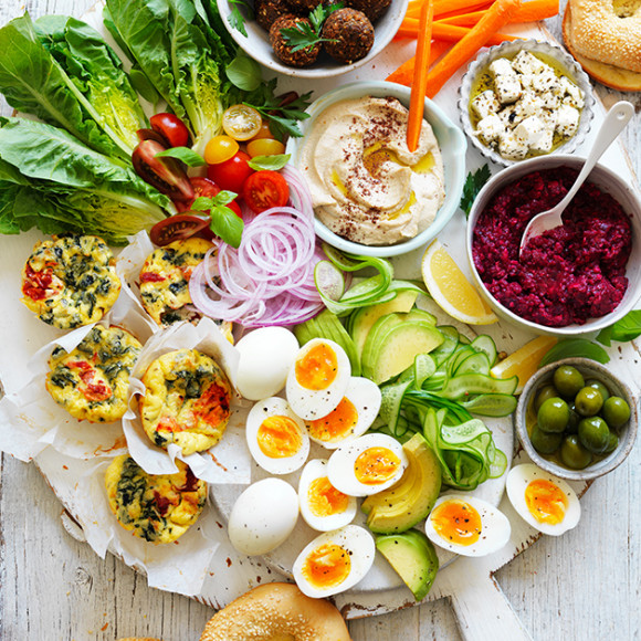 Vegetarian share Platter with Middle Eastern Flavours