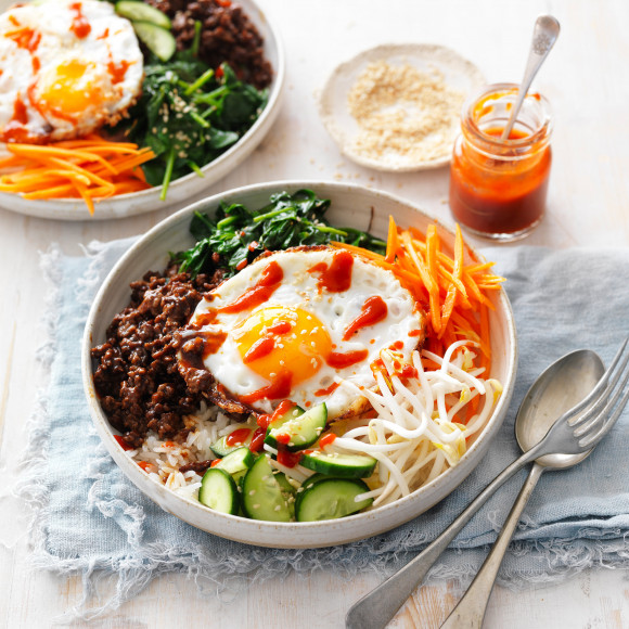 Korean Beef Bibimbap Recipe Myfoodbook Korean Beef Bibimbap Fresh Recipe