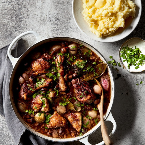 Coq Au Vin Recipe Myfoodbook Easy French Chicken Braised In Red Wine Sauce