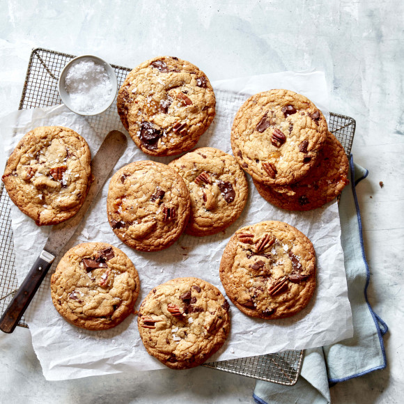 Brown Butter, Caramel and Chocolate Cookies