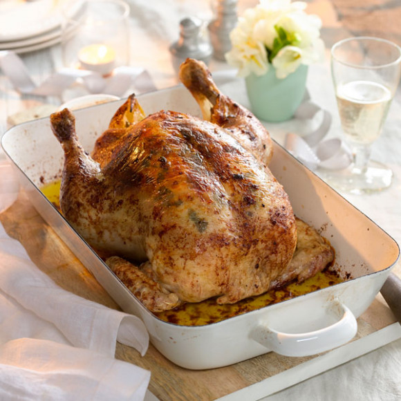 Roast Chicken With Shallots Oregano And Lemon Butter Recipe