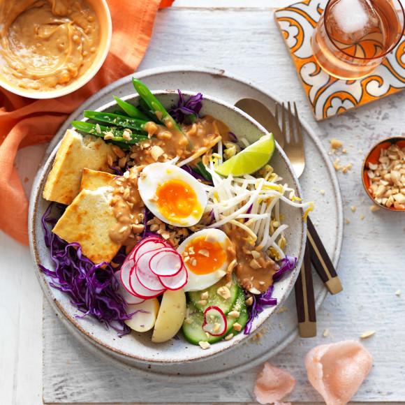 Vegetarian Gado Gado Salad Recipe with eggs