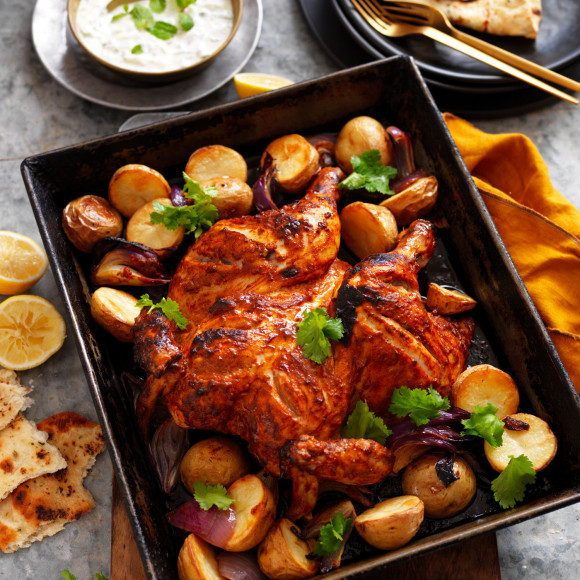 Roasted tandoori chicken recipe