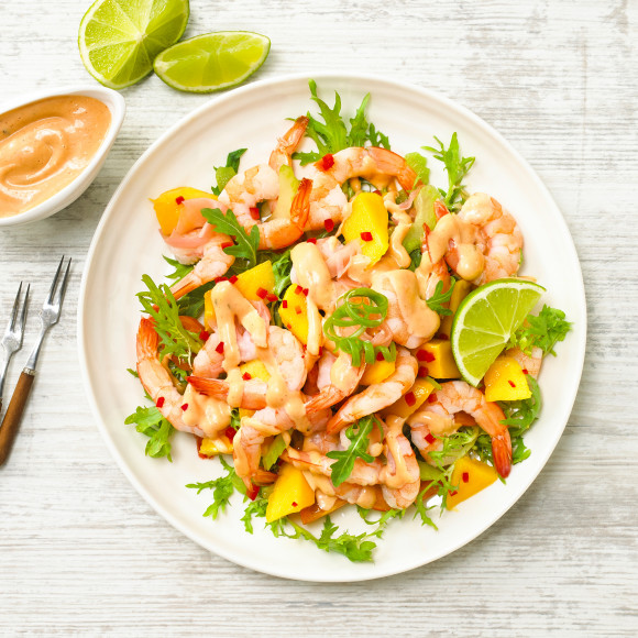 Mango prawn salad recipe