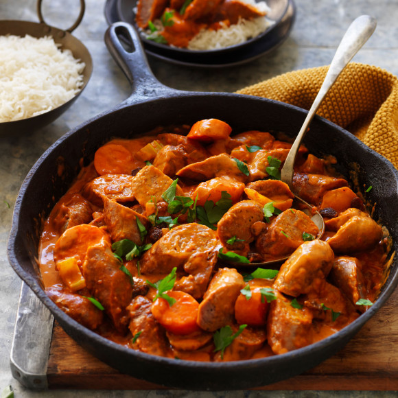 Indian Curried Sausages