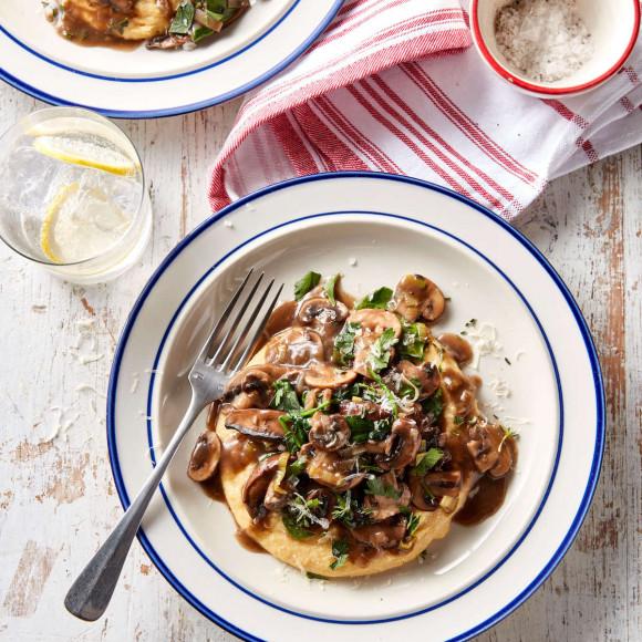 Creamy Mushroom ragu with creamy polenta recipe