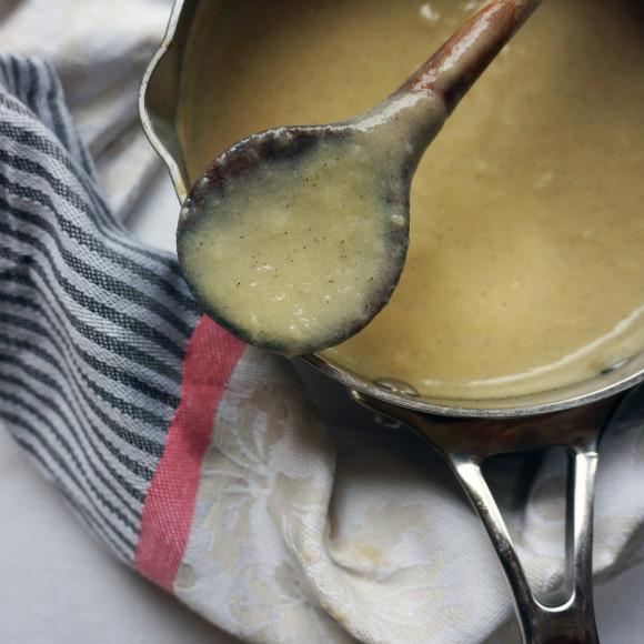 Vanilla Rice milk custard