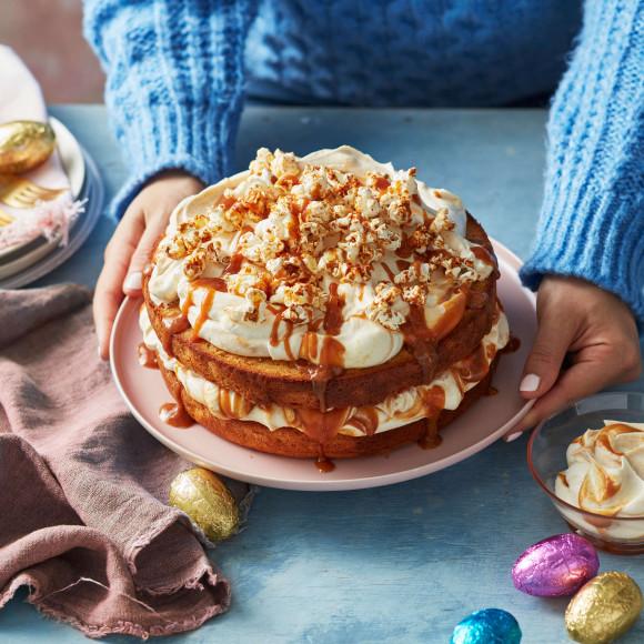 Caramel Popcorn Layer Cake