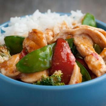Sesame and Garlic chicken stir-fry