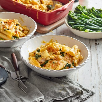 Easy pasta Chicken and Pumpkin Pasta Bake recipe made with chicken mince