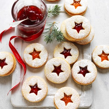 Jam Christmas Shortbread Biscuits