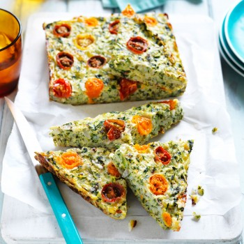 Cheese and Vegetable Rice Slice Recipe