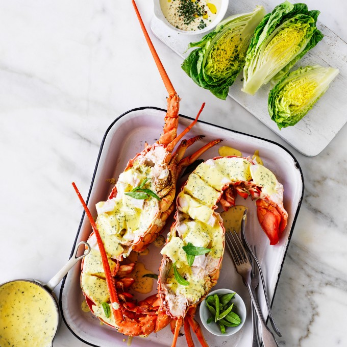 Fresh Australian Lobster recipe with Lemon and Tarragon Butter
