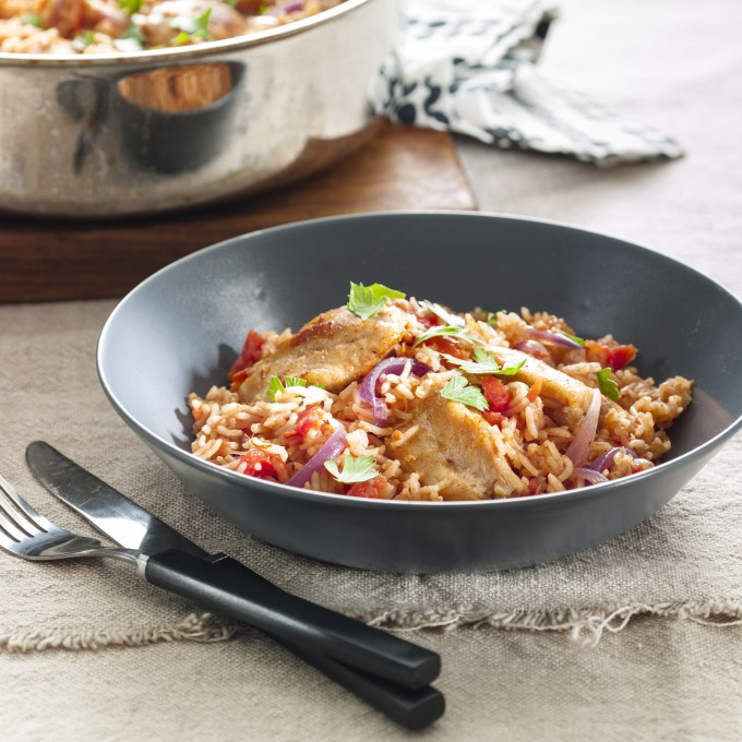Spiced Chicken and Tomato Pilaf