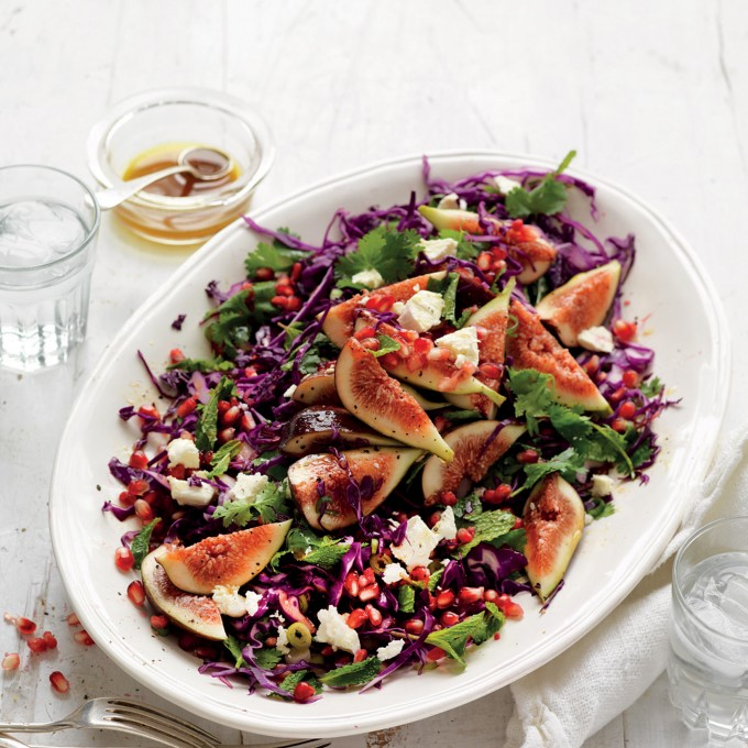 Fig, Red Cabbage and Pomegranate Salad